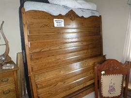 Super nice King Size Oak Bed.. mattress not included