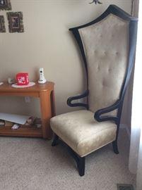 """Vintage """"Queen"""" Chair (64"""" at peak)"""