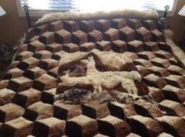 Llama 3D blanket - original Llama skins and hand sewn - Absolutely gorgeous!