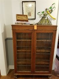 Craftsman leaded glass cabinet