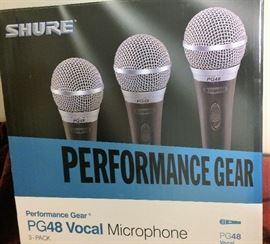 Performance Gear PG48 Set of 3 Vocal Microphones