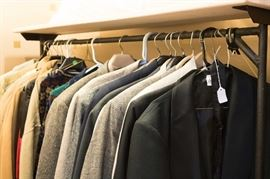 Many high quality men's coats at very low prices.