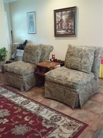 Pair of Bassett Furniture over stuffed Chairs