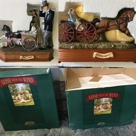 Several collectible figurines and music boxes including Gone with the Wind by San Francisco Music Box Company and others. Some rare.