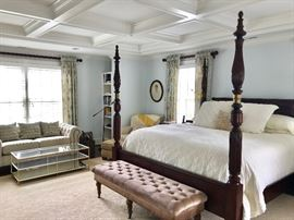 Handsome Poster Bed with Brass Detail