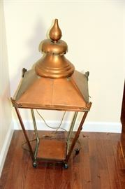 Antique English Copper Lamp Post Top