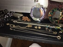 Case loaded with Costume Jewels, Sterling and 14K