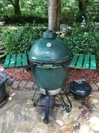 Large Big Green Egg with cover.