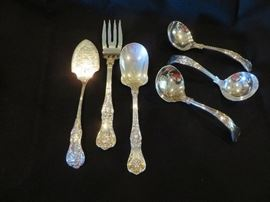 KING GEORGE STERLING SILVER SERVING PIECES- 6 PICTURED