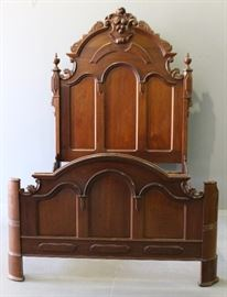 1870 Walnut High Bed