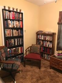 Library. Large collection of texts including hardbacks of LouisL' Amour, John Grisham, Danielle Steele, Stephen King, and Nora Roberts. Civil War texts and published Civil War diaries.