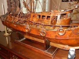 "Copper Ship Sculpture by Eugene ""Geno"" Huntsinger"