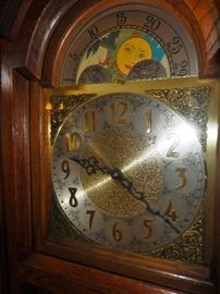 Face of Heritage Grandfather Clock