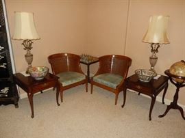Mid-Century Chairs, Chess Table, Pedestal Globe