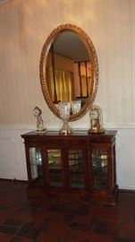 Beautiful Gilt Mirror and LIghted Display