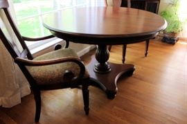 Nichols & Stone Custom Round Pedestal Table