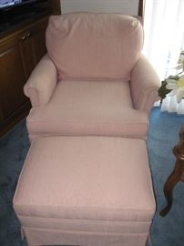 Side Chair with Ottoman...