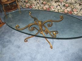 Oval Glass Coffee Table...