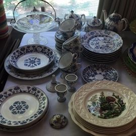 Delft and Blue Onion Dishes