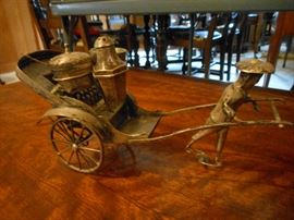 Silver Rickshaw Condiment Server
