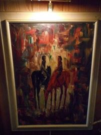 Mid Century Horse Painting