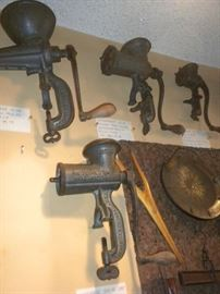 ANTIQUE MEAT GRINDERS