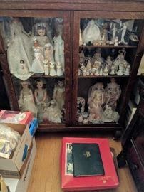 Cabinet of Brides including Madame Alexander, Frozen Charlotte, Simon & Halbig