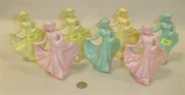 1950's porcelain ladies