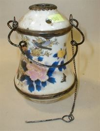Antique Chinese porcelain base for water pipe