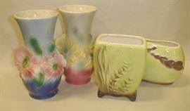 Royal Copley  pottery vases