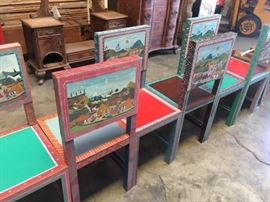 hand painted central american chairs