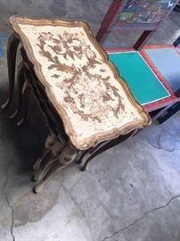 vintage venetian nesting tables