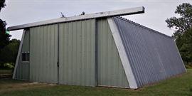 All steel detached shop
