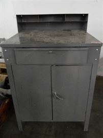 Grey Tool Cabinet with Drawer and 2 Cabinets