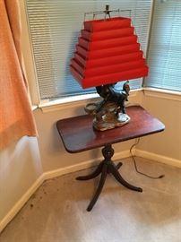 Mid Century lamp w/ Venetian Blind shade