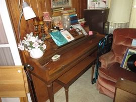 Lyon and Healy piano and bench