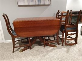 Antique Dropleaf Table & Chairs