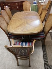 Stanley Dining Room Table & 8 Chairs