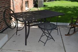Patio Table with Small Folding Table