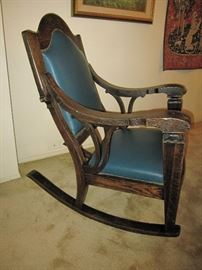 Limbert Style Rocking Chair, Early 1900's
