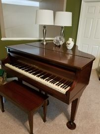 "100 year old CC Briggs piano - ""apartment grand"" 54"" wide 56"" long 40"" tall"