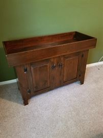 Antique Dry Sink  with recessed basin. Very nice piece to use for storage or as an accent piece.