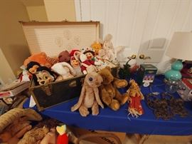 Large selection of plush and stuffed animals.