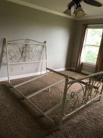 #1Cream Iron Bed Frame $300.00