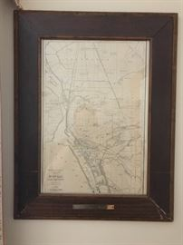 Framed Buffalo NY & Vicinity Map (Rand McNally)