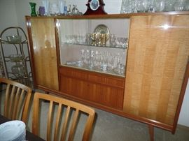 Stunning, Mid-Century China Cabinet- German Made