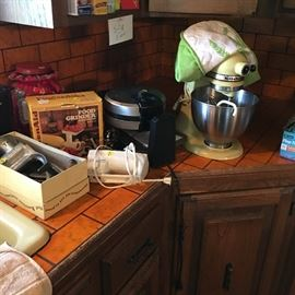 Vintage Kitchen Aid Mixer and Other Mixers