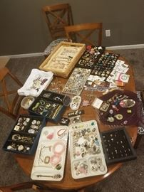 Tons of  Antique, modern  eclectic, artision and sterling silver jewelry. This picture is of of the jewelry available.