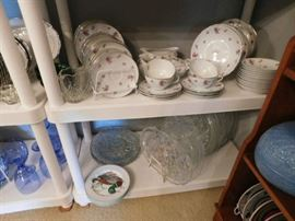 Fitz and Floyd Duck Plates, Crystal Platters