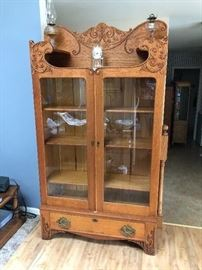 Oak china cabinet /book case